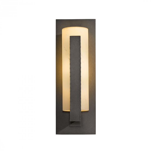 HUF 307286-07-H34 OUTDOOR SCONCE WITH GLASS OPTIONS: 19IN FORGED VERTICAL BARS, ALUMINUM OR ALUMINUM ON SLATE (-SL)