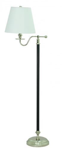 "B502-BPN BENNINGTON 58"""" BLACK AND POLISHED NICKEL FLOOR LAMP"
