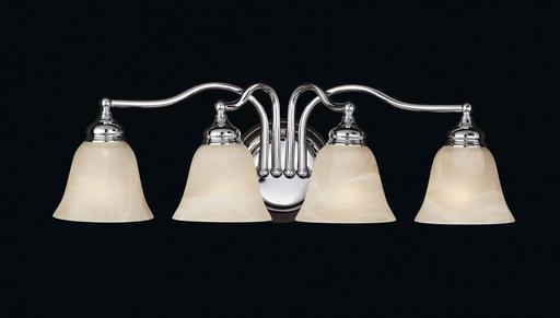 MURF VS6704-CH 4 LIGHT VANITY FIXTURE 4 E 100 WATT