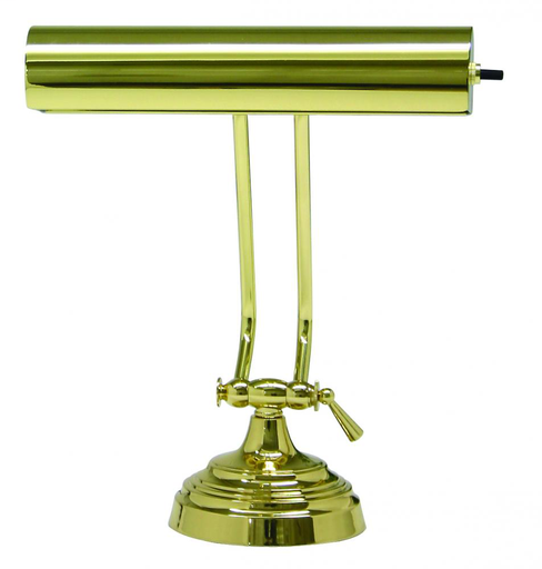 "HOT P10-131-61 10"" DESK/PAINO LAMP IN POLISHED BRASS 1-60W T10 MAX BULB"