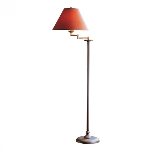 HUF 242050-20-086 FLOOR LAMP WITH SHADE OPTIONS: SIMPLE LINES WITH SWING ARM EXTENDING 10.