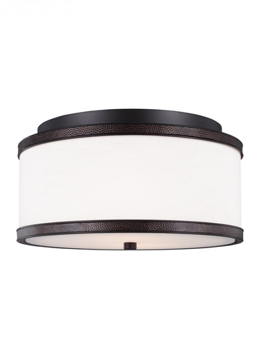 MURF FM502ORB 2 LIGHT INDOOR FLUSH MOUNT OIL RUBBED BRONZE