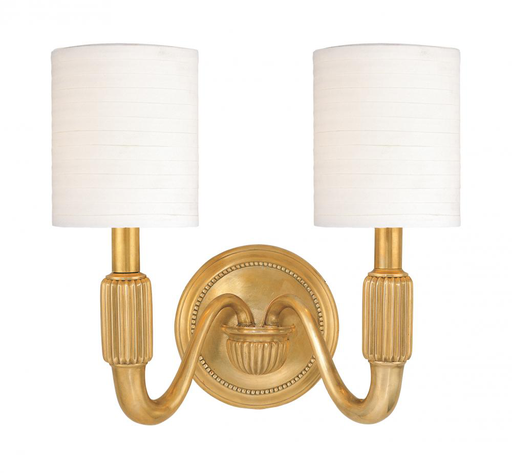 HDV 402-PN 2 LIGHT WALL SCONCE WITH SHADES