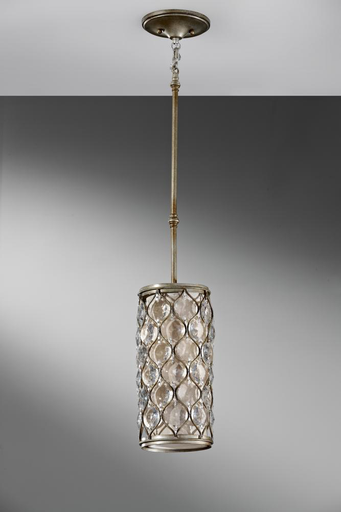 MURF P1258BUS 1 BULB BURNISHED SILVER CHANDELIER