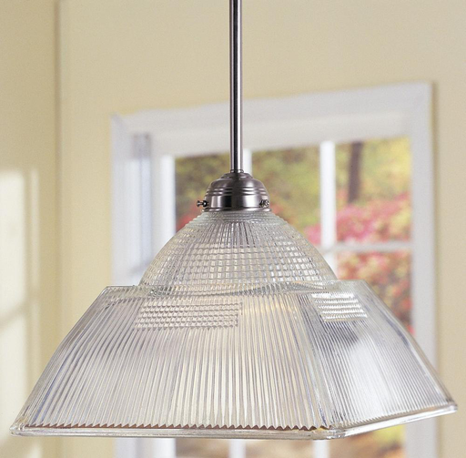 HDV 4520-SN SATIN NICKEL/CLEAR PENDANT 100W MED