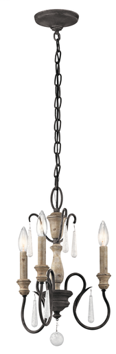 KIC 43616WZC MINI CHANDELIER 3LT