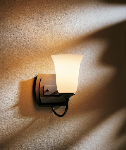 HUF 208021-05-G35 BRONZE WALL SCONCE 100W MED WITH OPAL GLASS