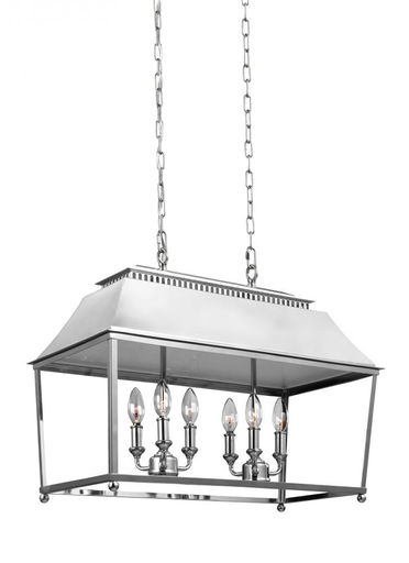 MURF F3105/6PN 6 - LIGHT ISLAND PENDANT POLISHED NICKEL