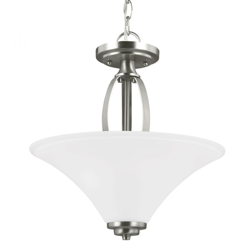 SEG 7713202-962 2 LIGHT SEMI-FLUSH CONVERTIBLE PENDANT