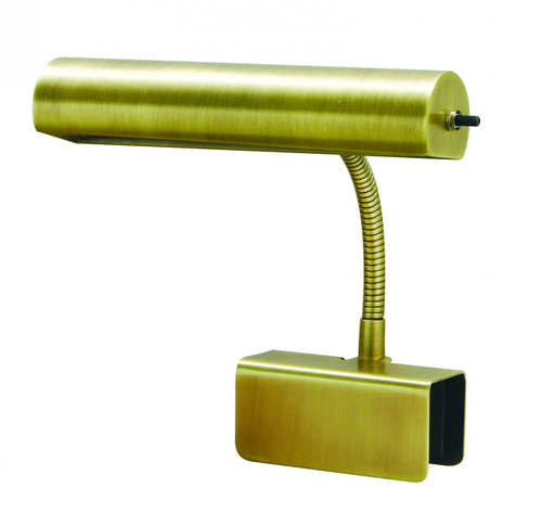 "HOT BL10-AB ANT. BRASS 10"" CLAMP-ON GOOSENECK BED LAMP 40W OR 60W MED T10"