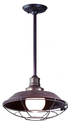 "TRY F9273OR CIRCA 1910 OLD RUST STEM MOUNT LANTERN 100W M MAX 41""H"