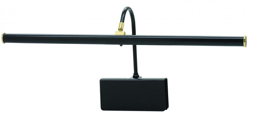 """HOT GPLED19-7 Grand Piano LED Clamp Lamp 19"""""""""""""""" Black with Polished Brass Accents"""