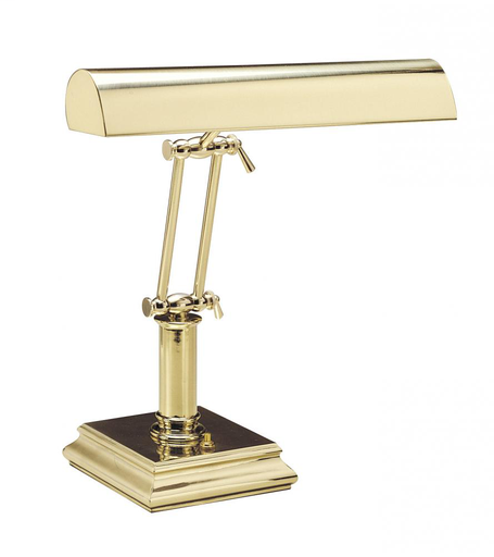 """HOT P14-201 PIANO/DESK LIGHT IN POLISHED BRASS (0"""" - 14"""") (2-40W OR 60WT10)"""