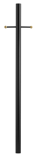 HNK 6663BK BLACK 7' ALUMINUM POST WITH LADDER REST AND PHOTO CELL