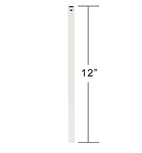 "EMN CFDR1SW 12"" DOWNROD SATIN WHITE"