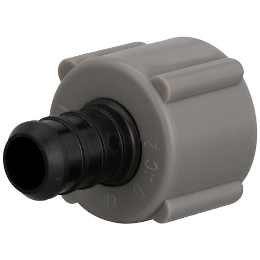 (Crimp) QickSert Polymer Male Adapter - 1/2-Inch Barb x 1/2-Inch MPT