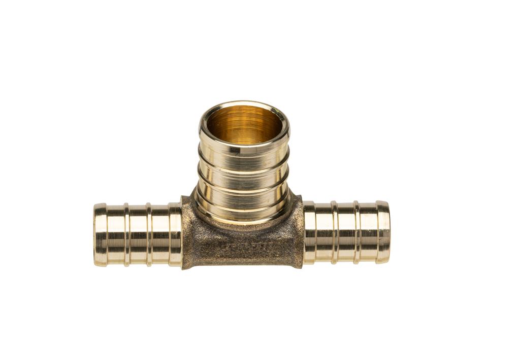 (Crimp) Brass Swivel Adapter - 3/8-Inch Barb x 1/2-Inch FPT Plastic Swivel Nut